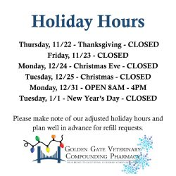 Pharmacy Open Christmas Day.Holiday Hours Archives Golden Gate Veterinary Compounding