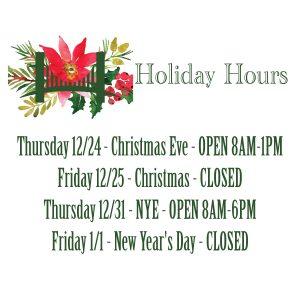 GGVCP Holiday Hours 2020